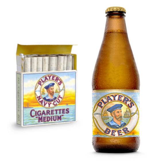 More cigarette-beer brand extensions: Player's Beer | BEACH