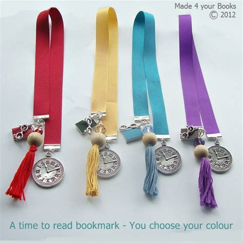 A time to read handmade ribbon bookmark   You c