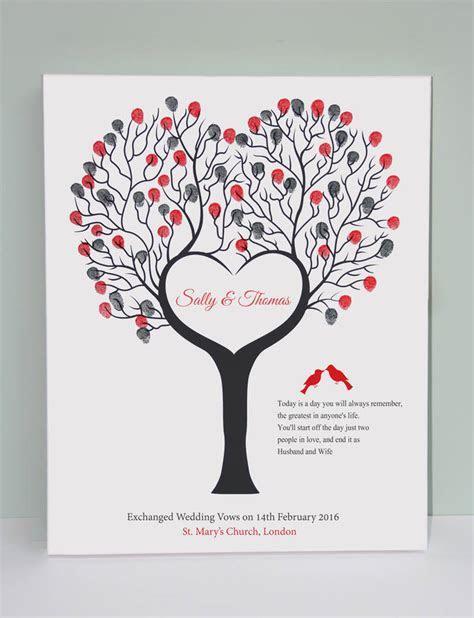 wedding fingerprint canvas / guest book alternative by