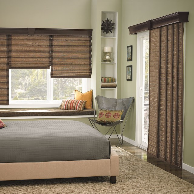 Bali Woven Wood Sliding Panels contemporary-vertical-blinds