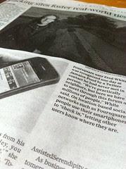 Foursquare in Boston Globe 10/21/10