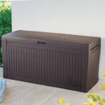 Keter Comfy 71-Gallon Outdoor Storage Deck Box, Brown