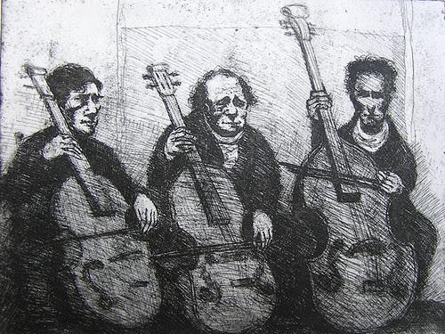 Cello Players copyright Bruce Waldman