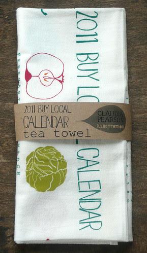 2011 Calendar Tea Towel folded