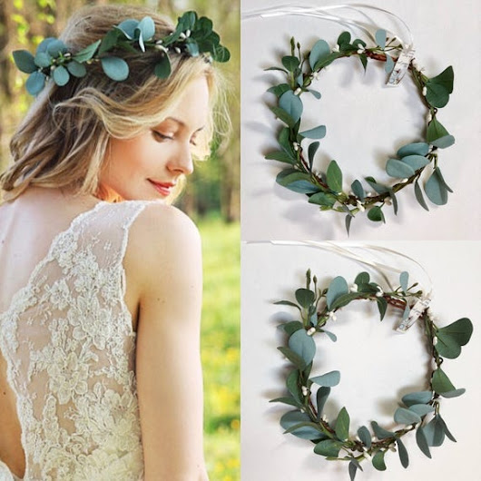 Wedding greenery crown eucalyptus crown Greenery headband