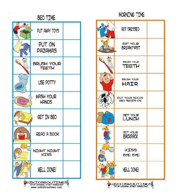 Daily Schedule Behavior Chart   Daily Agenda Calendar