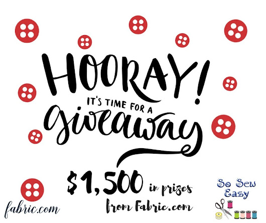 New $1,500 Fabric.com Giveaway! Our Biggest Ever! - So Sew Easy