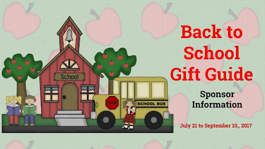 Back To School Gift Guide Sponsor Information