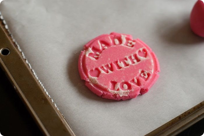 made with love ♥ pink almond shortbread cookies from @bakeat350