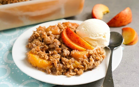 Peach Oatmeal Crisp Recipe from Real Food Real Deals