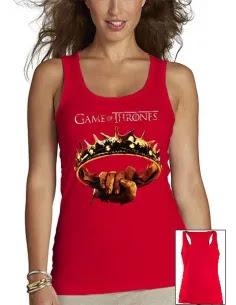 Camiseta Juego de Tronos Corona - tirantes mujer