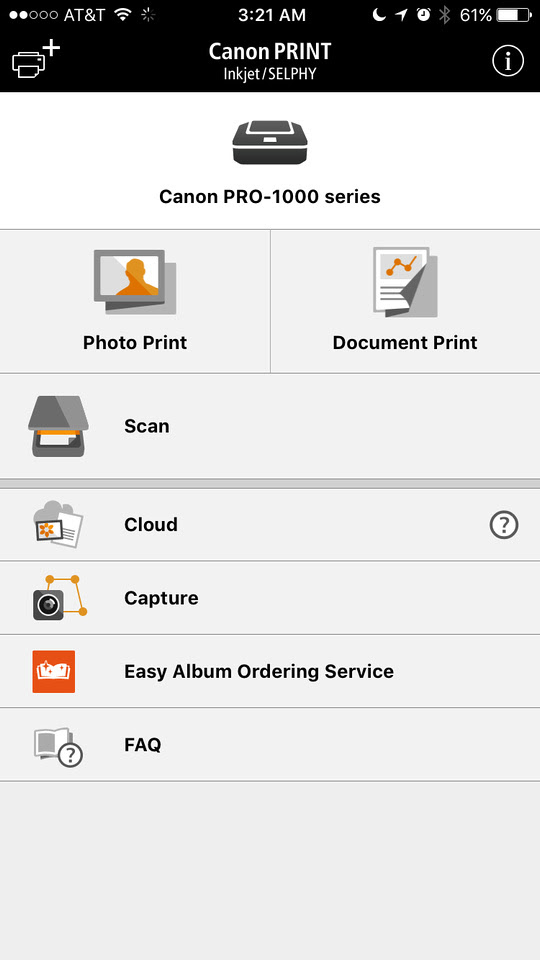 Canon PRINT iOS App