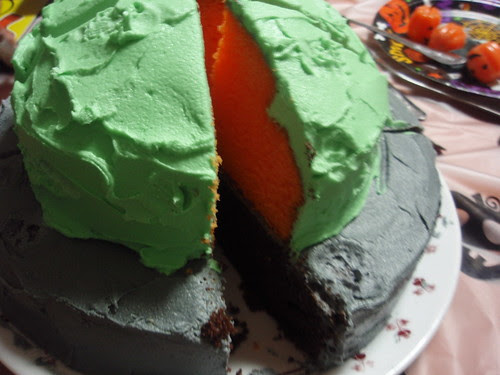 'orange' and chocolate cake
