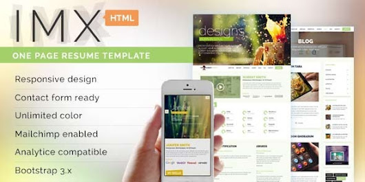 IMX - Responsive HTML5 Resume Template