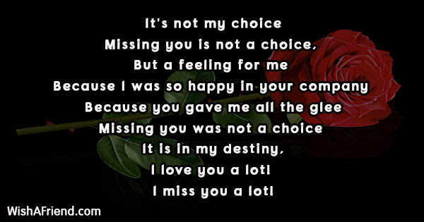 Missing You Poems For Girlfriend