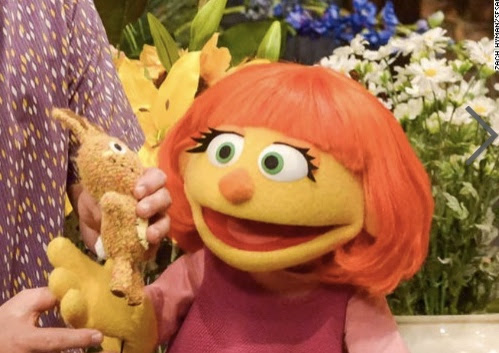 Julia, the muppet with autism, joins Sesame Street's TV show