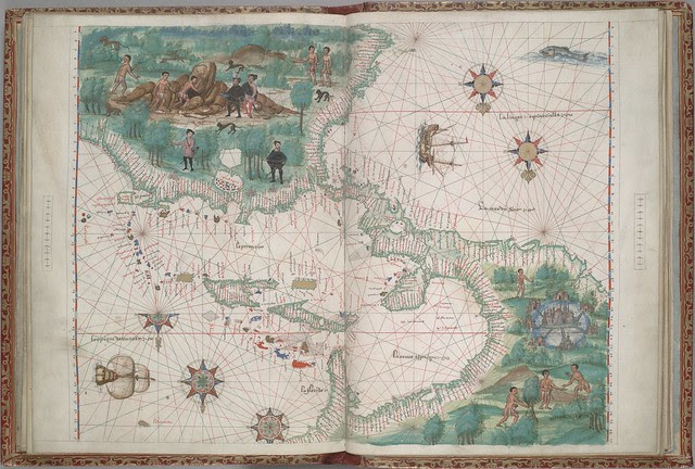 Portolan map of Europe and northern Africa; 16th c. manuscript