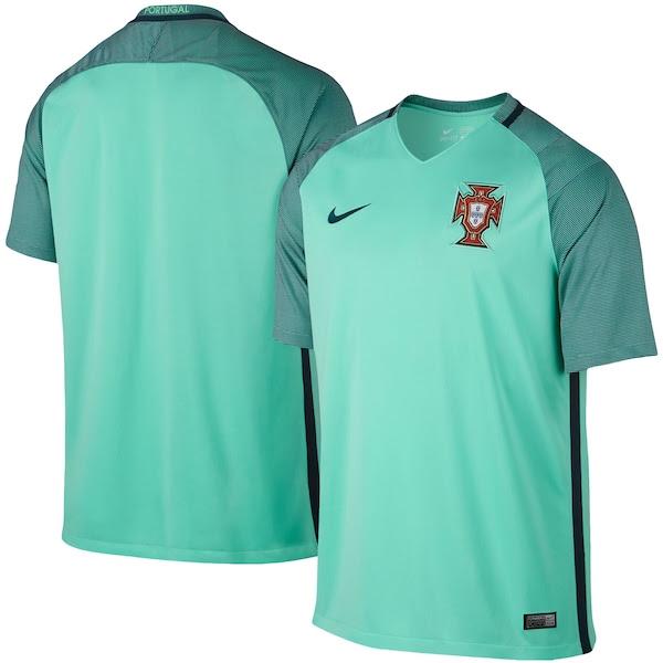 Portugal Nike 2016 Away Stadium Jersey - Green - Fanatics.com