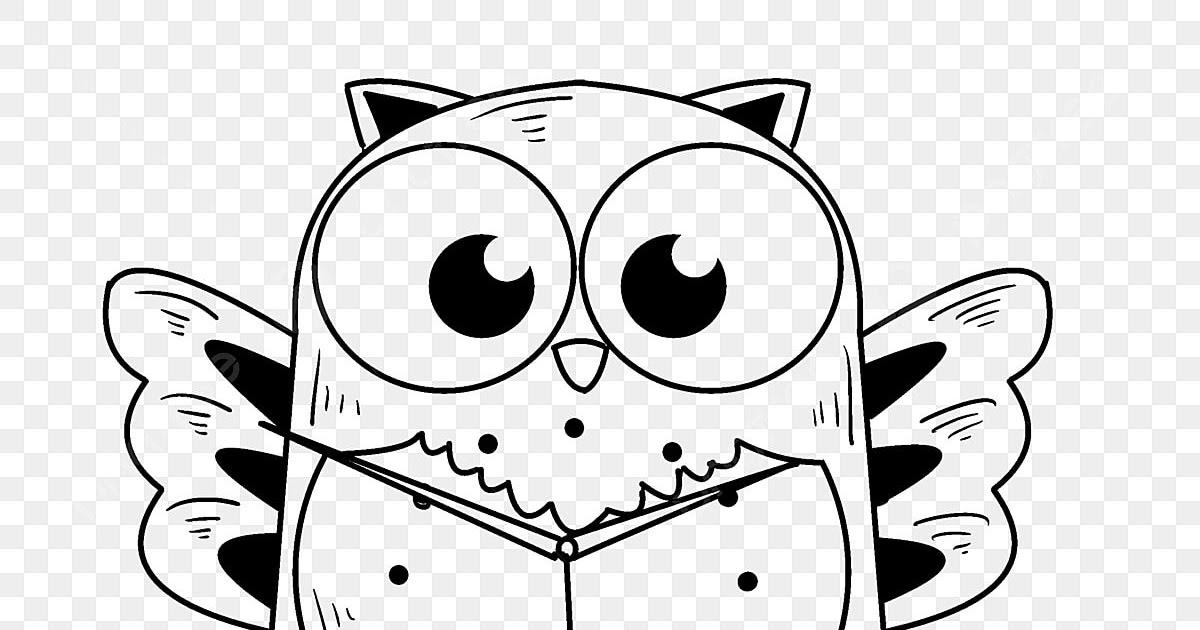 Gambar Kartun Burung Hantu Hitam Putih - Christoper