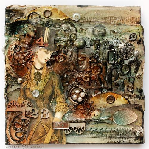 Grunge - canvas collage