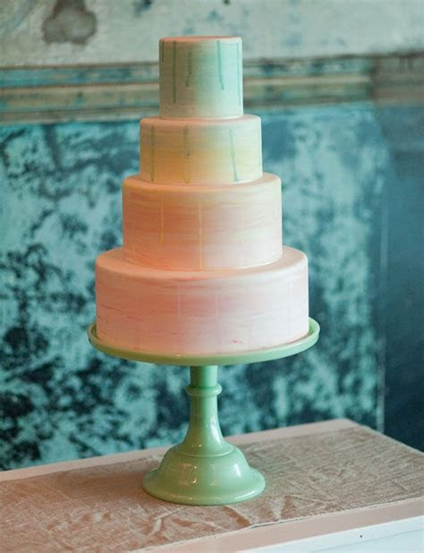 20 Subtle Watercolor Wedding Cake Ideas   Deer Pearl Flowers