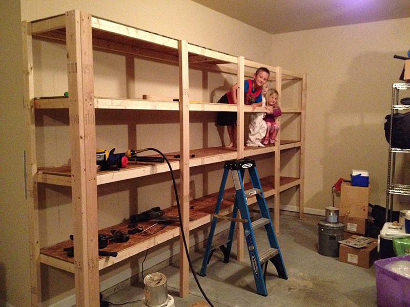 How to Build Sturdy Garage Shelves « Home Improvement Stack ...