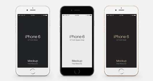iPhone 6 Psd Vector Mockup | Psd Mock Up Templates | Pixeden