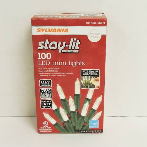 sylvania stay lit led mini christmas lights 100
