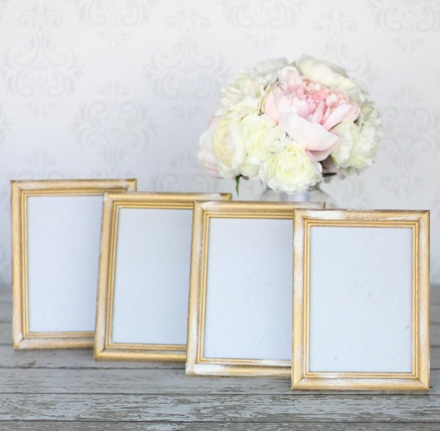 Rustic Gold Wedding Frames 5x7 Shabby Decor Set Of 4 2458534 Weddbook