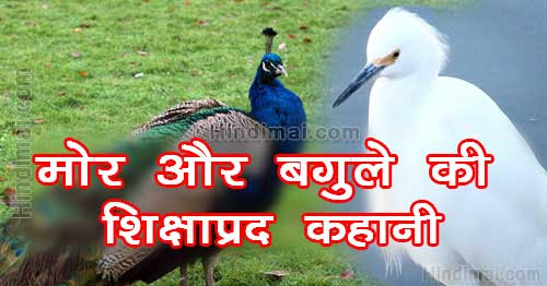 Peacock And Crane Motivational Moral Story in Hindi