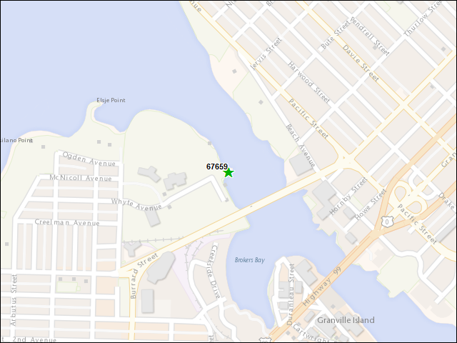 Map : Kitsilano CCG SAR Station