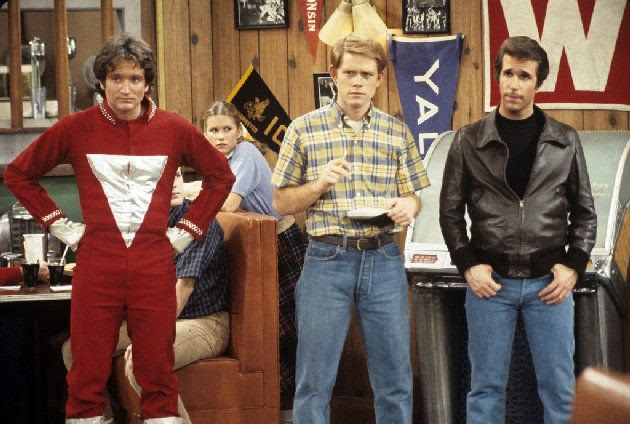 Robin Williams, Ron Howard and Henry Winkler - Happy Days episode My Favorite Orkan