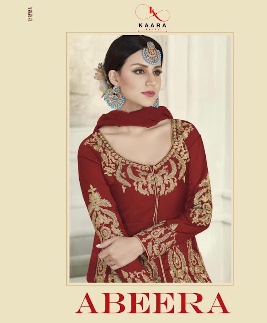NITYANX » Abeera by kaara suits series 14001 heavy work party wear designer suits catalog wholesale supplier and dealer Gujarat