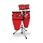 Toca 2300FRD Synergy Series Fiberglass Conga Set with Stand - Red