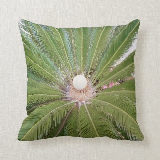 Green Palm Cushion Pillows