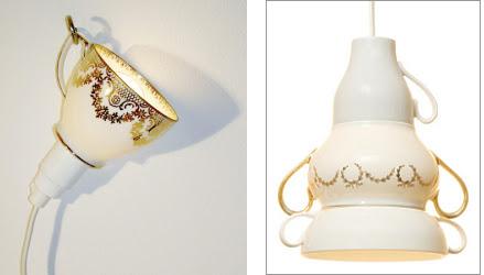 Tazza abat-jour e vasellame lampadario