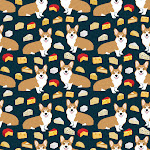 """corgi cheese lover - edam, brie, cheddar, camembert, french food, food, cute dog Carry-All Pouch by Corgi Crew - Small (6"""" x 5"""")"""