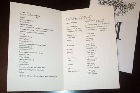 Wedding Program Templates   sample wedding programs