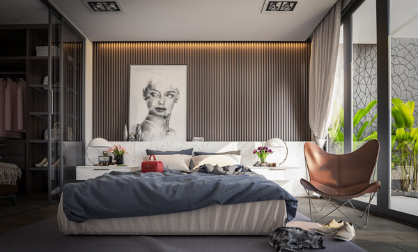 18 Wooden Accent Wall Ideas For Modern Bedroom | HomeMydesign