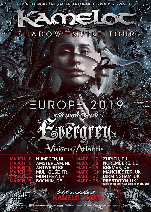 "Kamelot announce support acts for 2nd leg of ""Shadows Over European Tour"" – Official Kamelot Website"