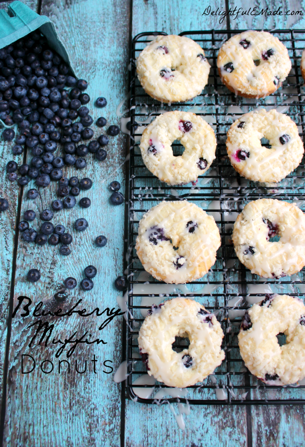DelightfulEMade.com - Blueberry Muffin Donuts and Teacher Appreciation Gift Basket