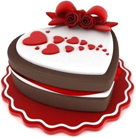 Free Valentine's Day Clipart   Heart Shaped Chocolate Cake