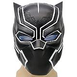 (エックスコス)XCOSER パンサー コスプレ マスク コスチューム ブラック マーベル ハロウィン お面 グッズ アニメ 動物 お祭り イベント セット 鬼 ヘルメット 黒 半顔 女性 般若 helmet costume Mask
