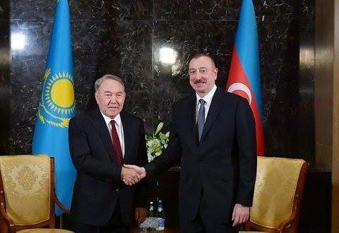 АЗЕРБАЙДЖАН. Ильхам Алиев и Нурсултан Назарбаев встретились в Баку