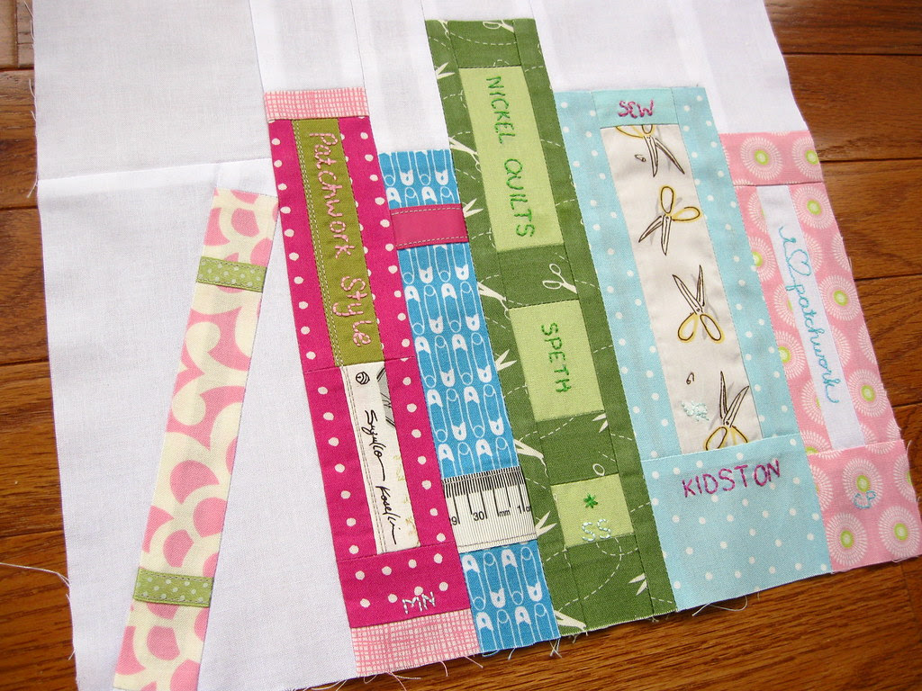 book block for Vicky in the Sew Buzzy Bee