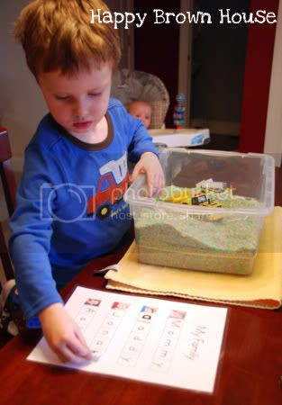 Sensory Box Spelling 2