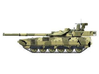 """Предполагаемый внешний вид танка """"Армата"""". Изображение с сайта alternathistory.org.ua"""