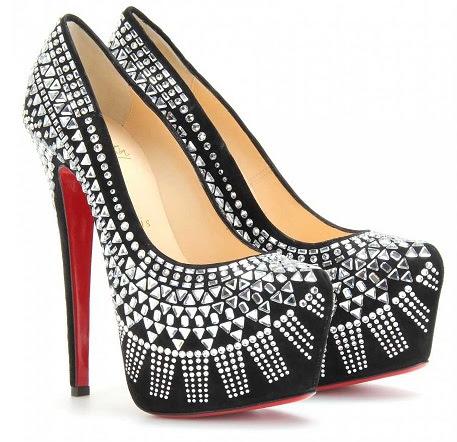 The glass studdedwomen heels -21