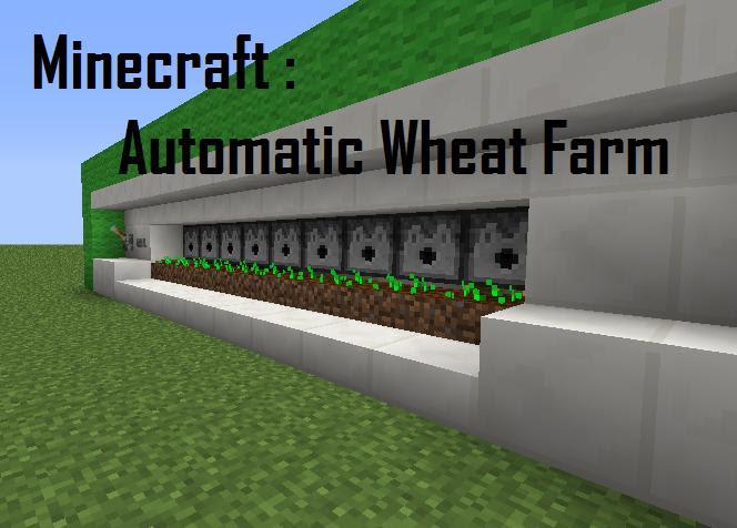 Matt Redstone   Automatic Wheat Farm Minecraft Project