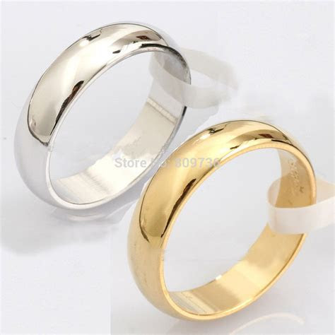 1PC Plain Titanium Steel Ring New Fashion Engagement